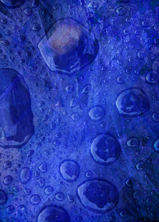 Blue Abstract 3 by Helene U Taylor