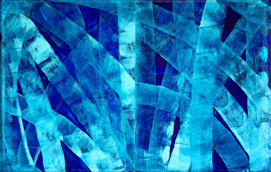 Blue Painting - Blue Abstract Art - Paths - By Sharon Cummings by Sharon Cummings