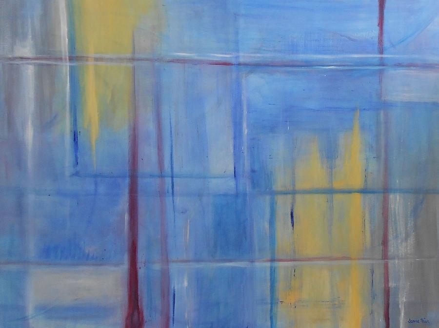 Blue Painting - Blue Abstract by Jamie Frier