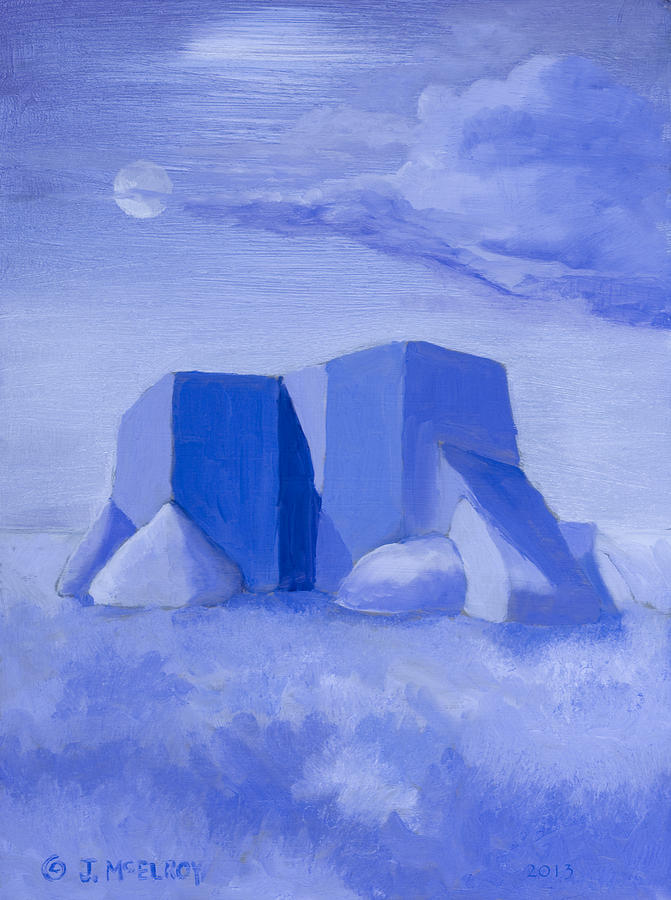 Blue Painting - Blue Adobe by Jerry McElroy