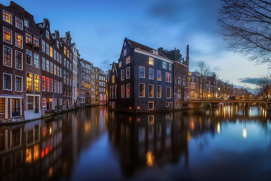 Amsterdam Photograph - Blue Amsterdam by Clara Gamito