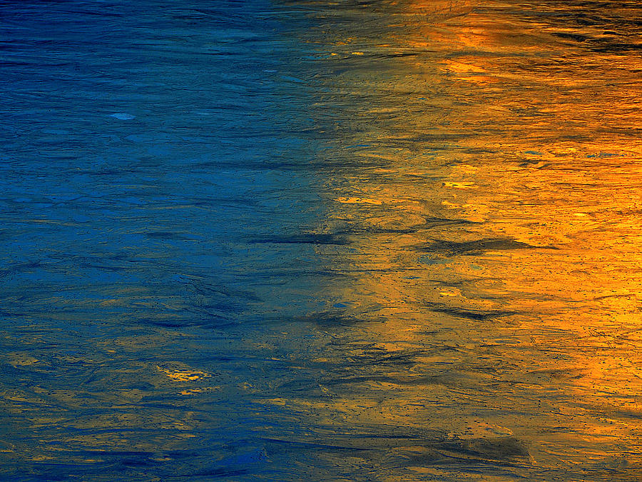 blue and gold photograph by dennis james
