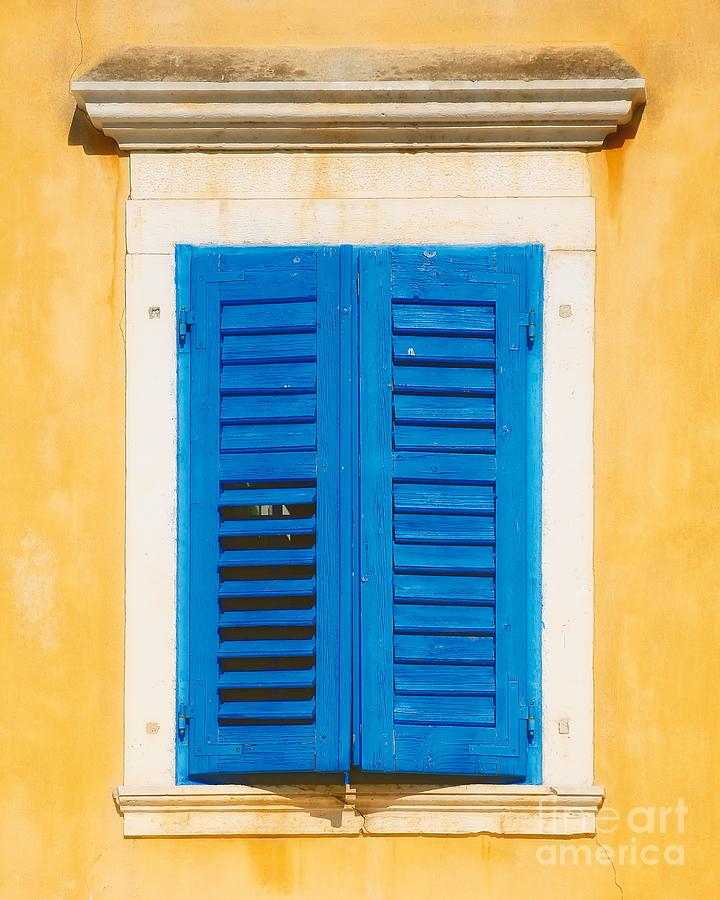 Blue and Gold Window by Kate McKenna