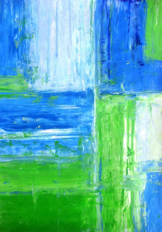 abstract yellow green drawing - photo #49