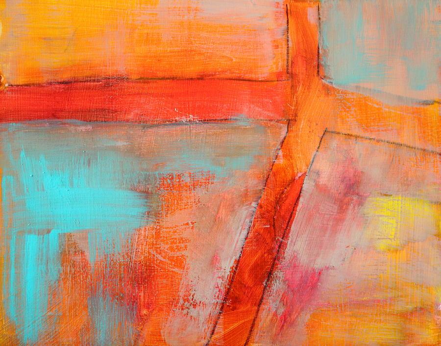 blue and orange painting by nancy merkle. Black Bedroom Furniture Sets. Home Design Ideas