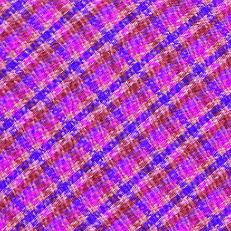 Blue And Pink Plaid Design Fabric Background Photograph