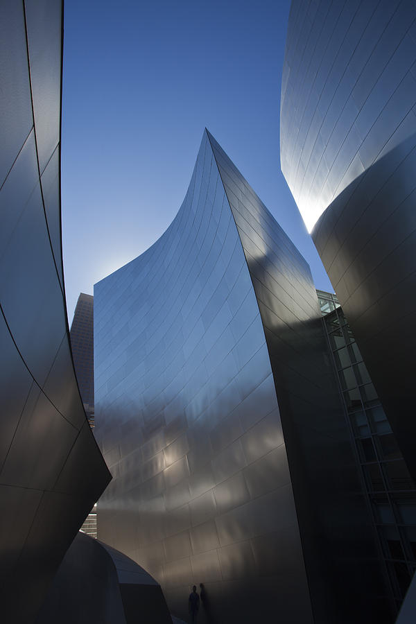 Architecture Photograph - Blue and Silver Curves 1 by Geoff Scott