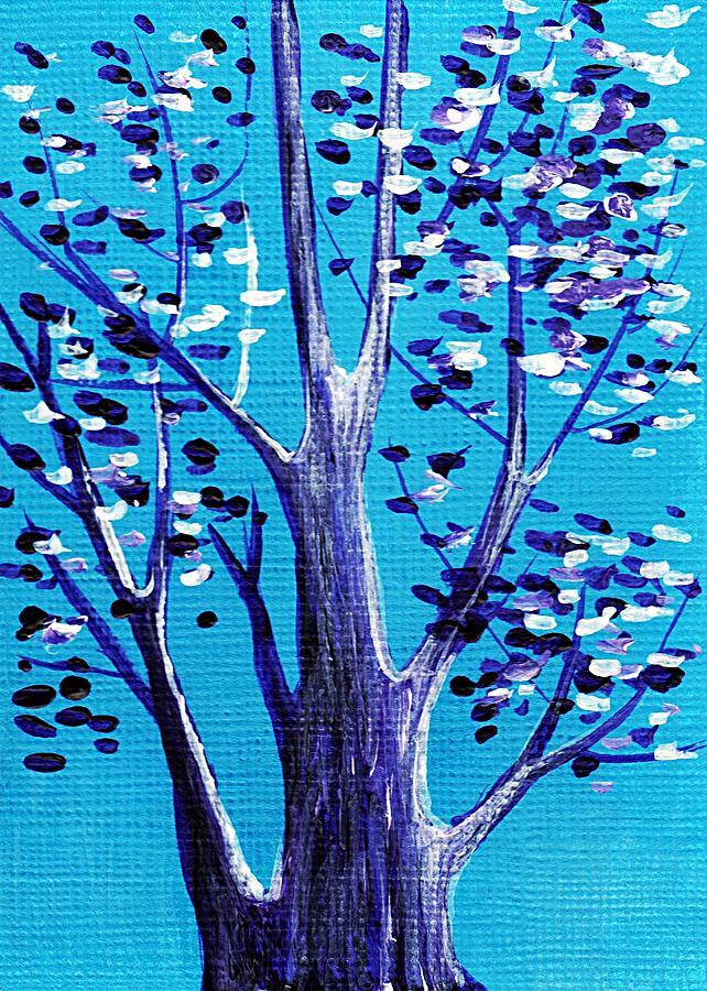 Malakhova Painting - Blue And White by Anastasiya Malakhova