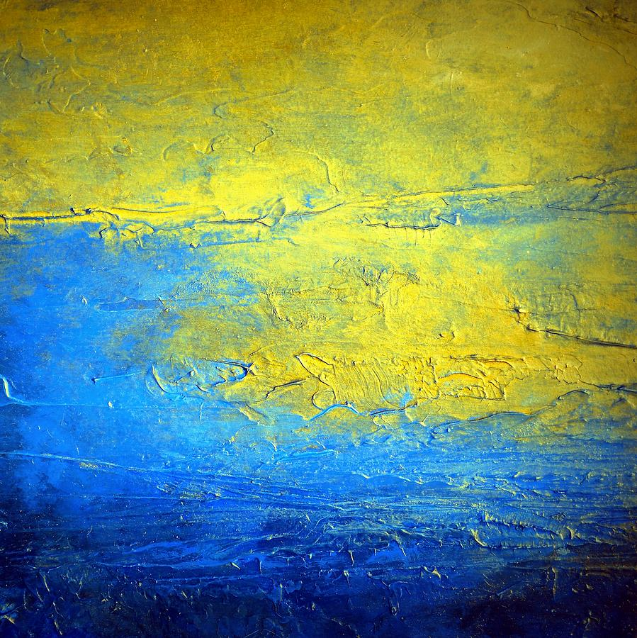 Blue and Yellow Abstract Painting SIRIUS the brightest ...Yellow Abstract Painting