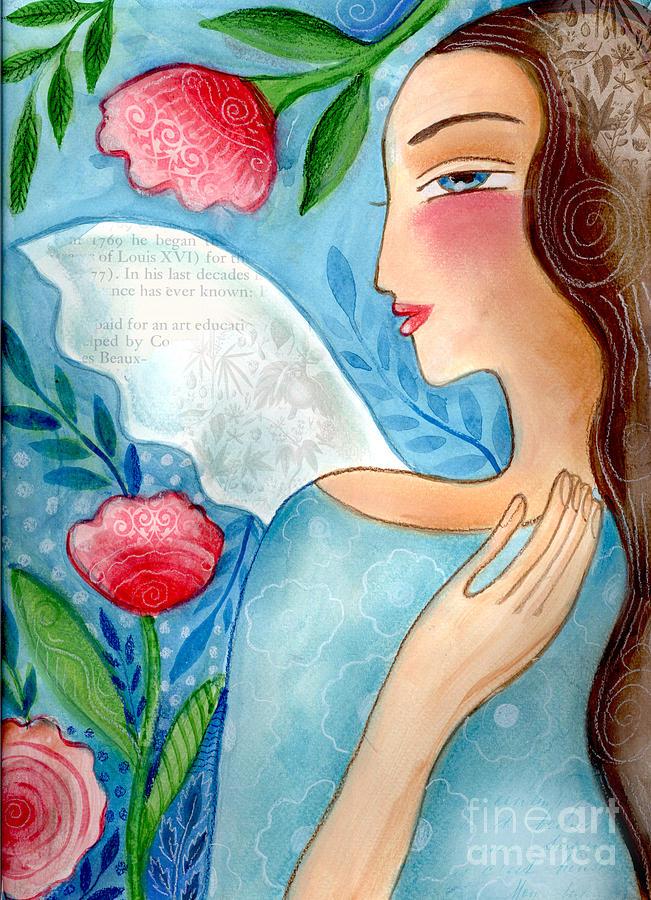 Angel Mixed Media - Blue  Angel by Elaine Jackson