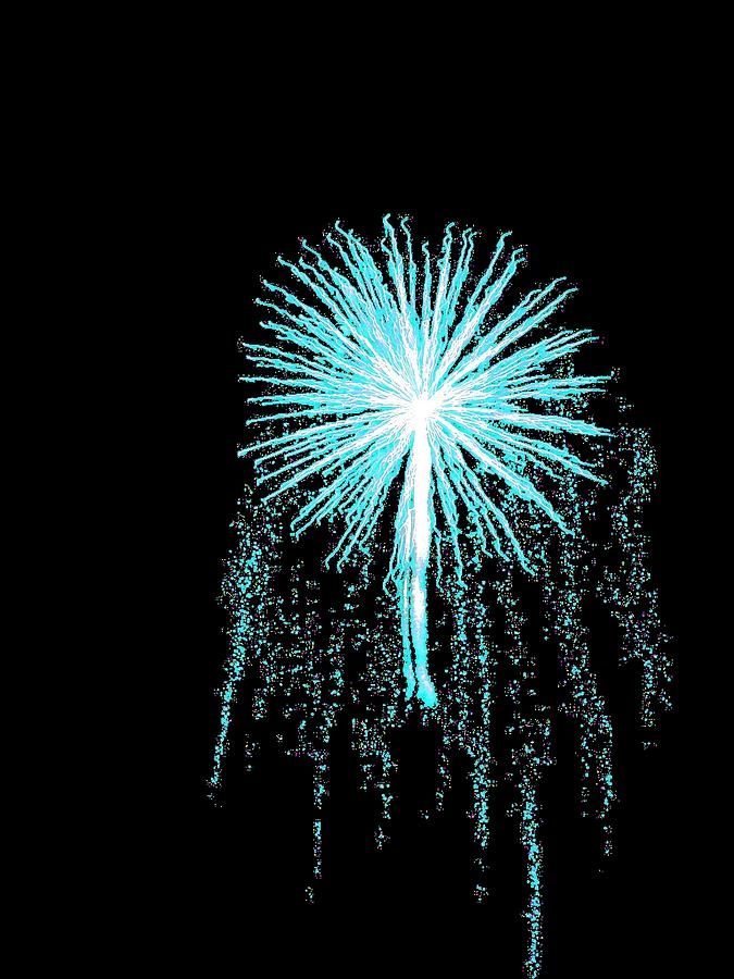 Firework Photograph - Blue Angel by Katie Beougher