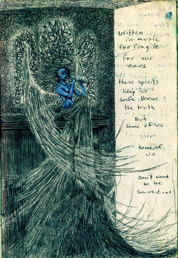 Blue Angel Drawing - Blue Angel by Kd Neeley