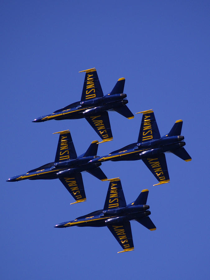 Airshows Photograph - Blue Angels by Bill Gallagher