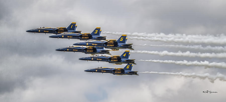 Blue Angels Photograph - Blue Angels by Jeff Swanson