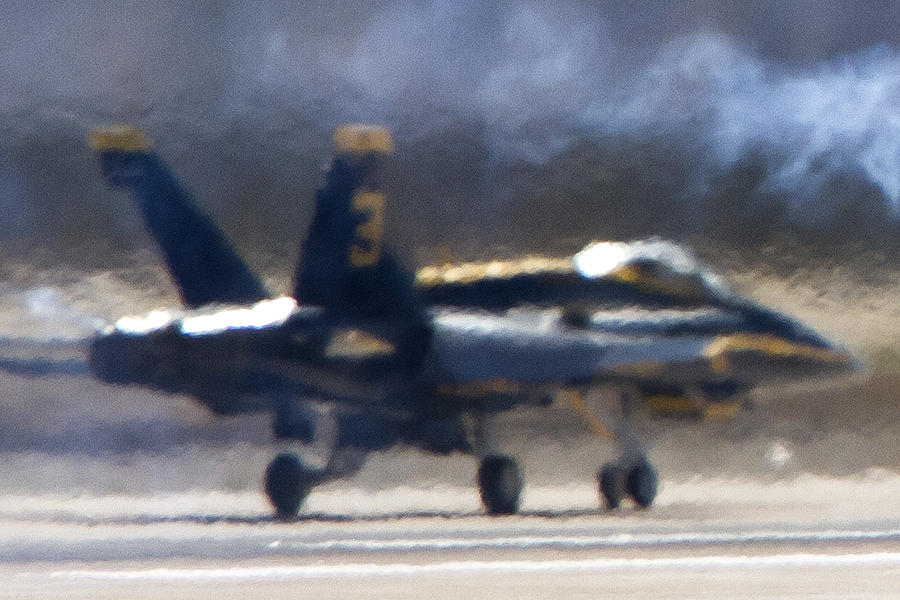 Blue Angels Number 3 On The Runway by Jim Moss