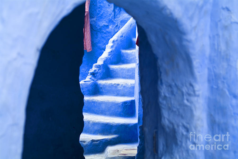 Stairs Photograph - Blue Arch by Lana Enderle