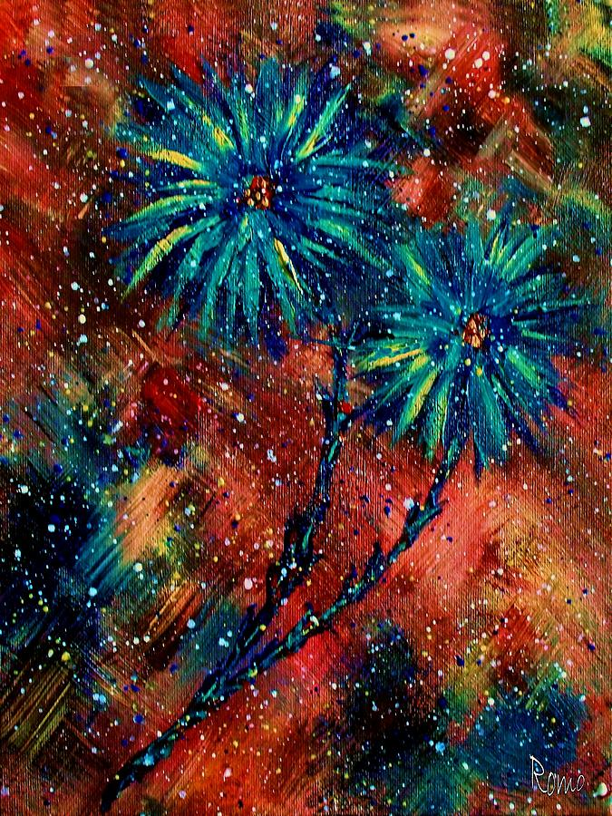 Flowers Painting - Blue Asters by Robin Monroe