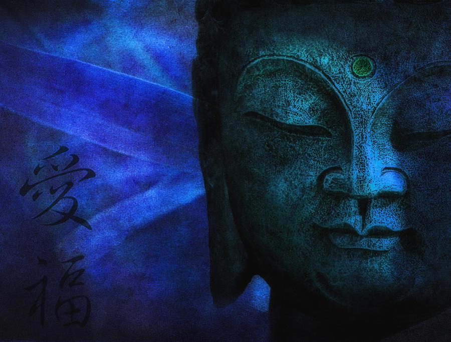 Buddha Photograph - Blue Balance by Joachim G Pinkawa