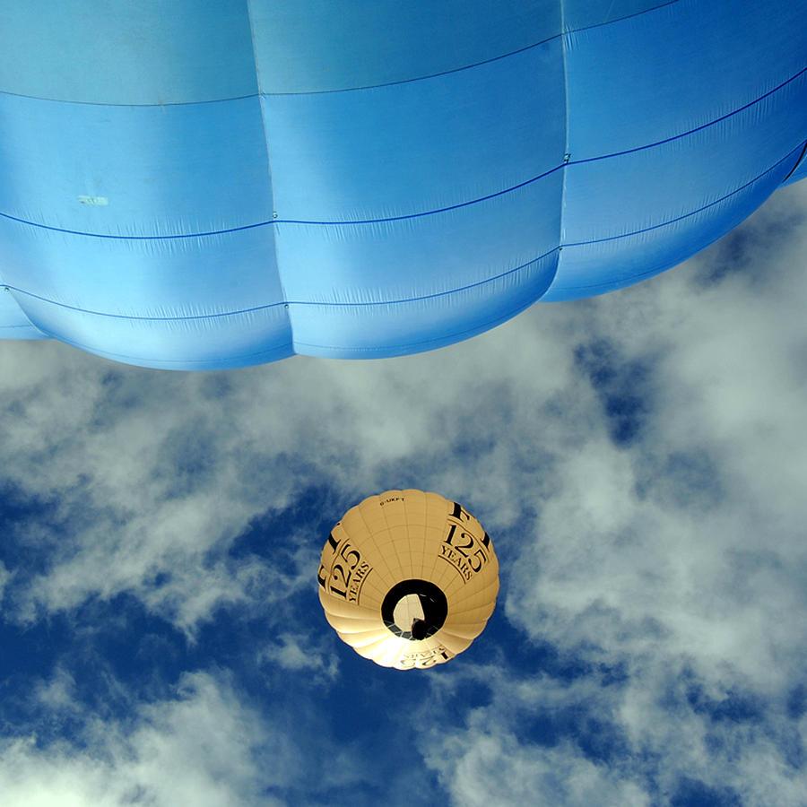 Blue Photograph - Blue Balloon by Stephen Richards