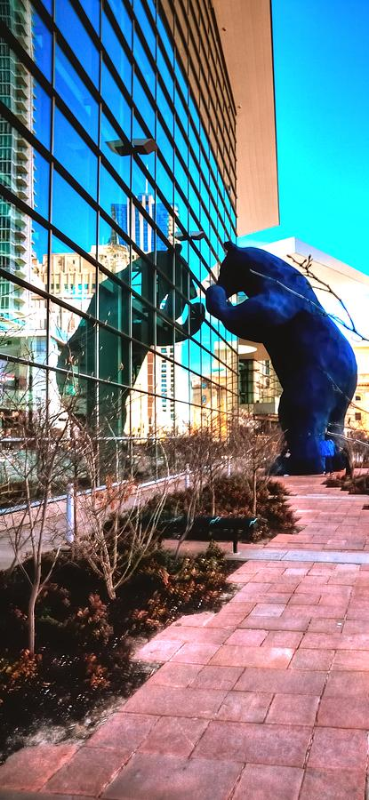 Reflect Photograph - Blue Bear Convention Center 5214 by Jerry Sodorff