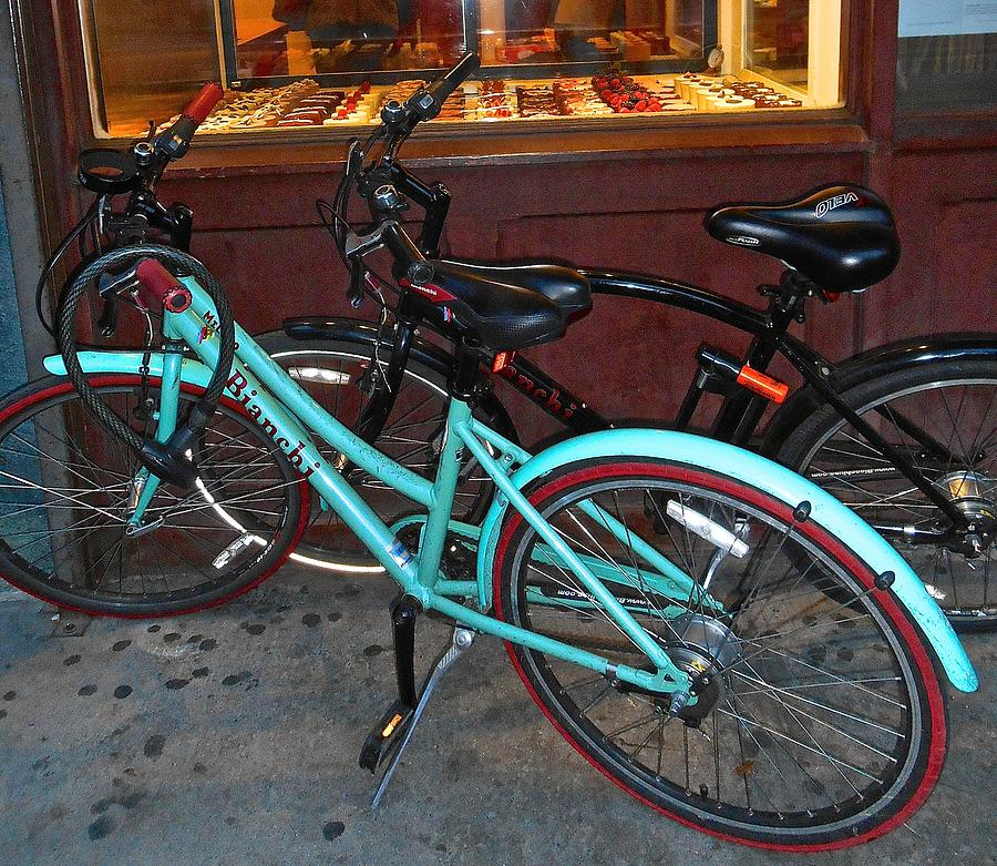 Blue Bianchi Bike Photograph by Joan Reese