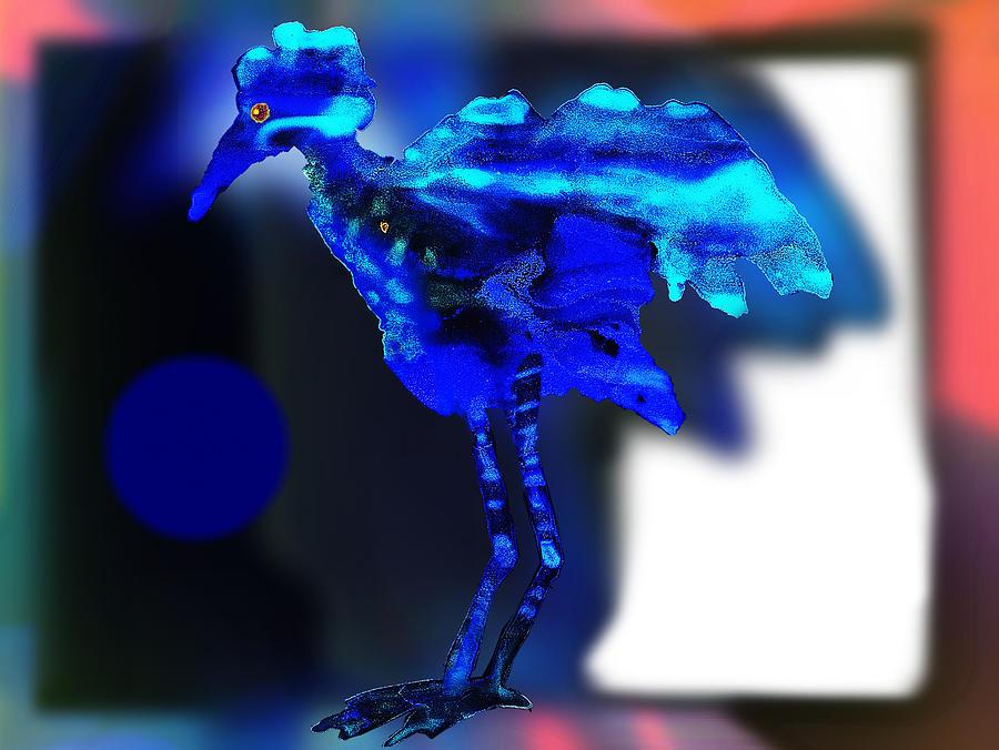 Blue Bird Painting - Blue Bird by Hartmut Jager