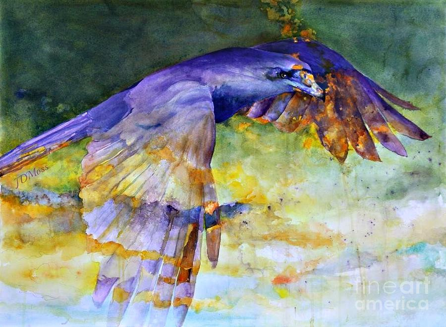 Birds Painting - Blue Bird by Janet Moss