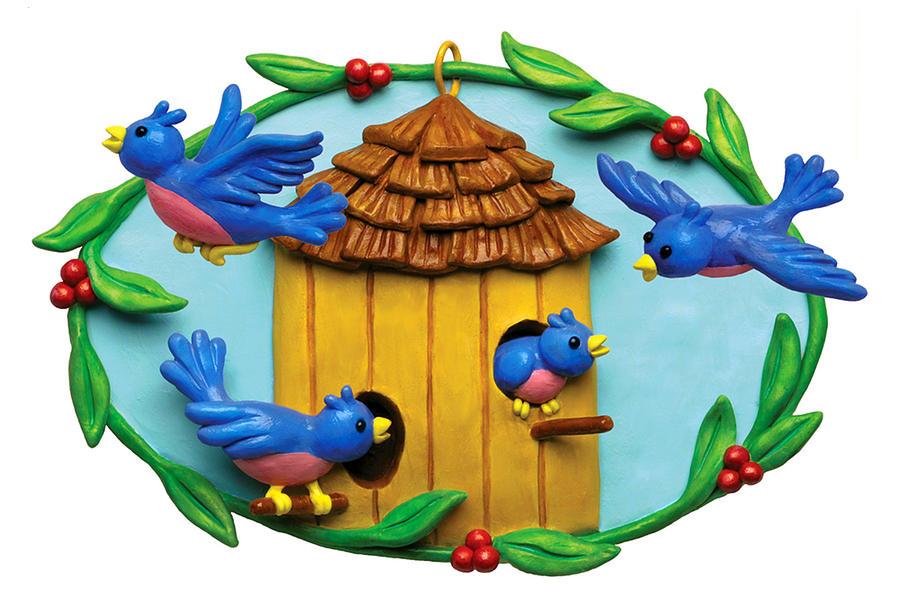 Animal Mixed Media - Blue Birds Fly Home by Amy Vangsgard