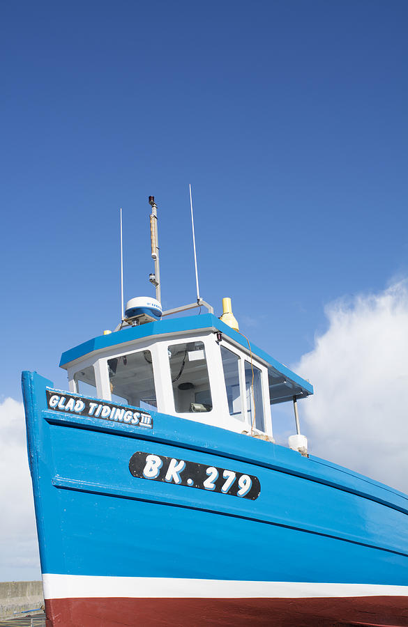 Blue Photograph - Blue Boat Blue Sky by Michelle Bailey