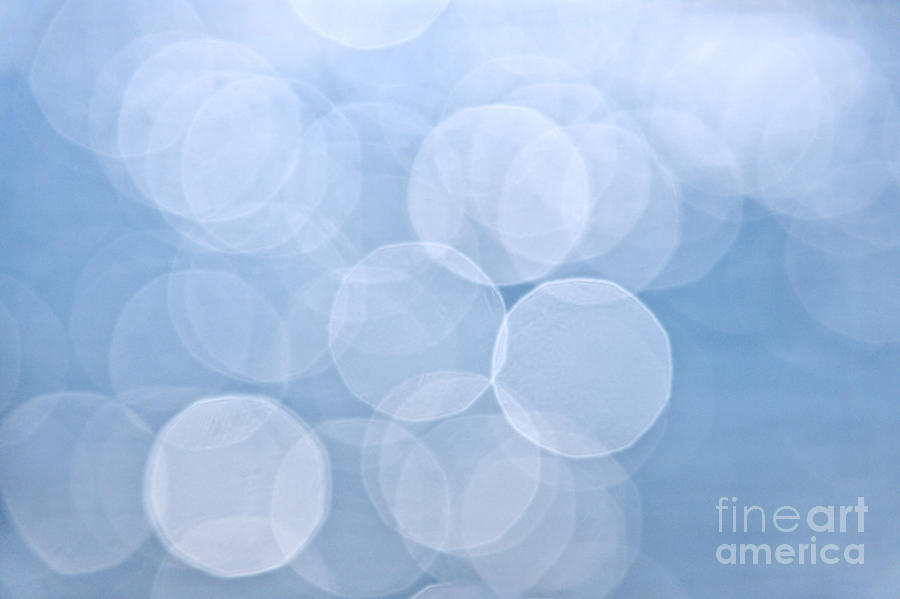 Blue Photograph - Blue Bokeh Background by Elena Elisseeva