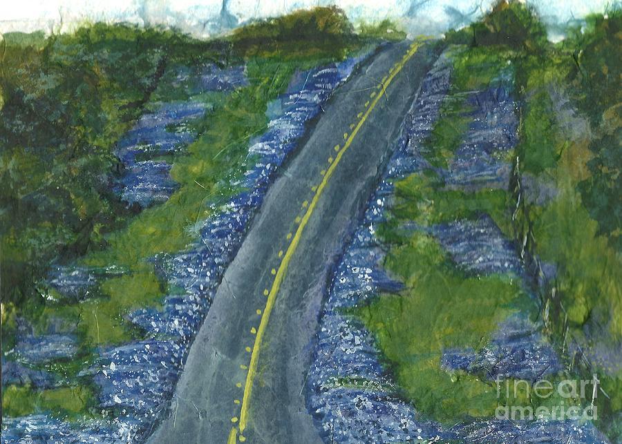 Road Painting - Blue Bonnet Road by Lynn Babineau