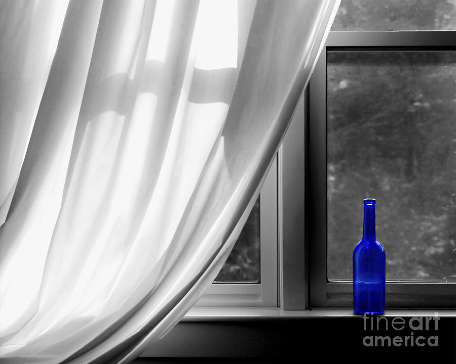 Blue Photograph - Blue Bottle by Diane Diederich
