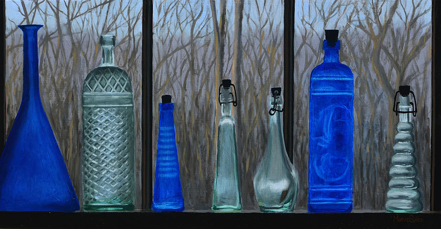 Blue Bottles by Murad Sayen