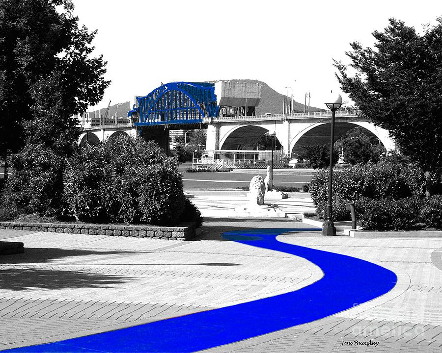 Blue Photograph - Blue Brick Path by   Joe Beasley