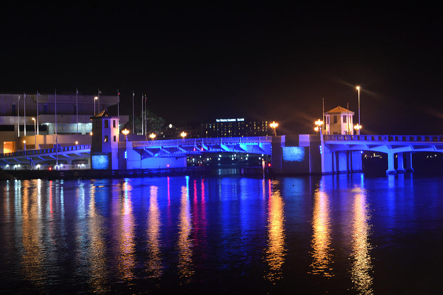 Bridge Digital Art - Blue Bridge by Victoria Clark