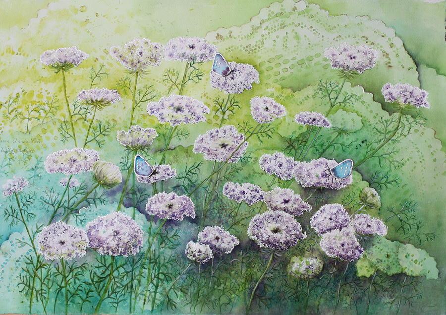 Butterflies Painting - Blue Butterflies by Patsy Sharpe