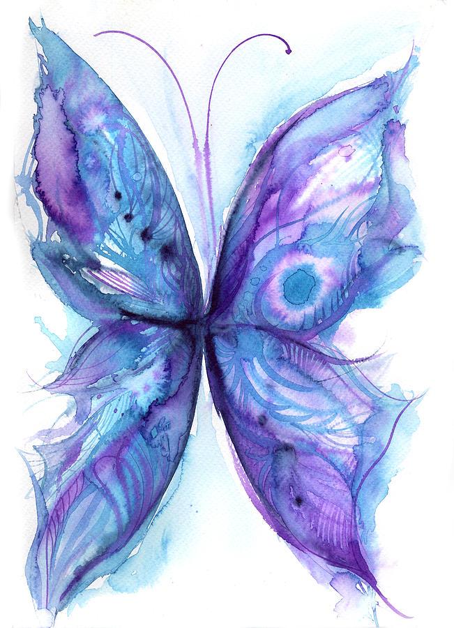 Blue Butterfly Digital Art by Stereohype