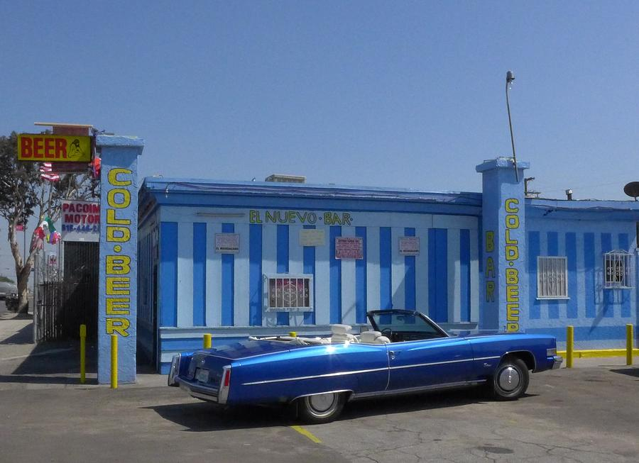 Blue Cadillac At The Nuevo Bar Photograph by Jim Steinfeldt