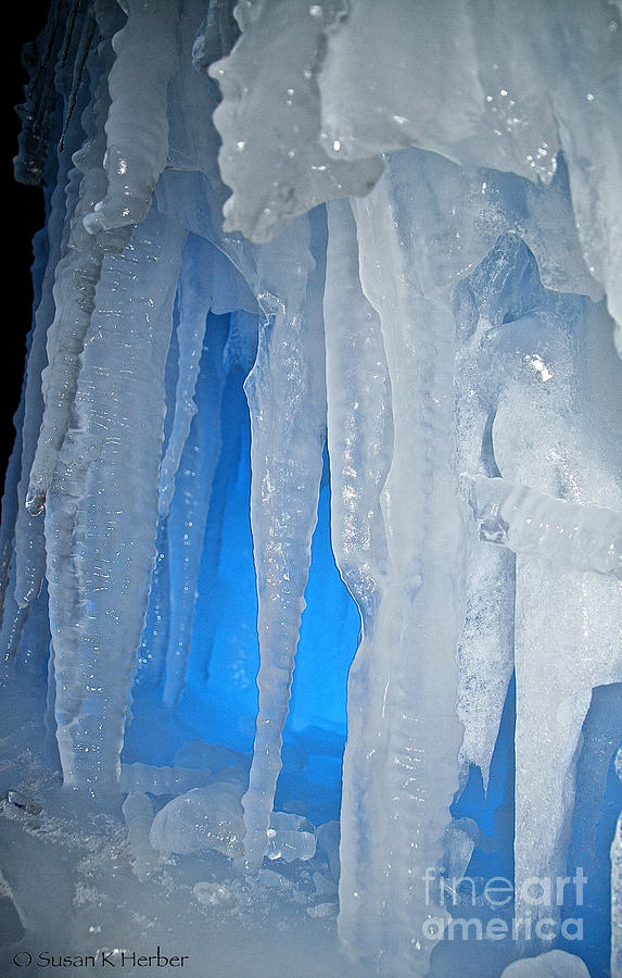 Ice Photograph - Blue Cave by Susan Herber