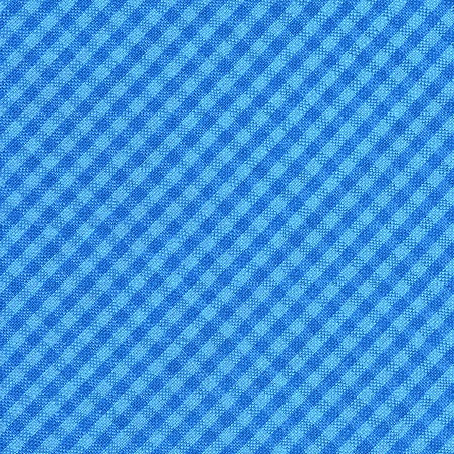 Blue Checkered Diagonal Tablecloth Cloth Background