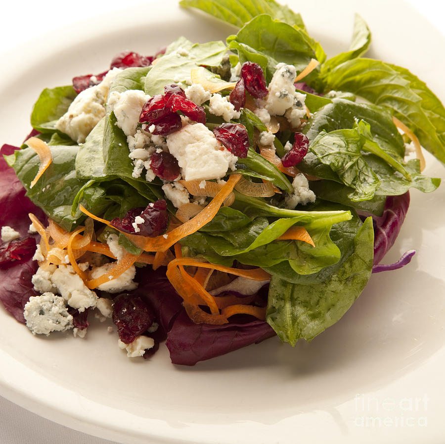 New Orleans Photograph - Blue Cheese Salad by New  Orleans Food