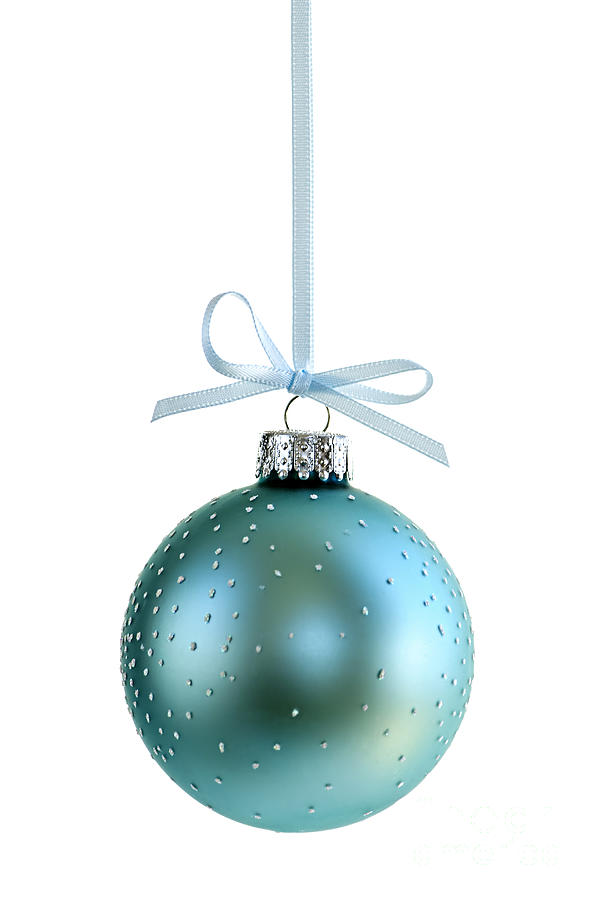 Christmas Photograph - Blue Christmas Ornament by Elena Elisseeva
