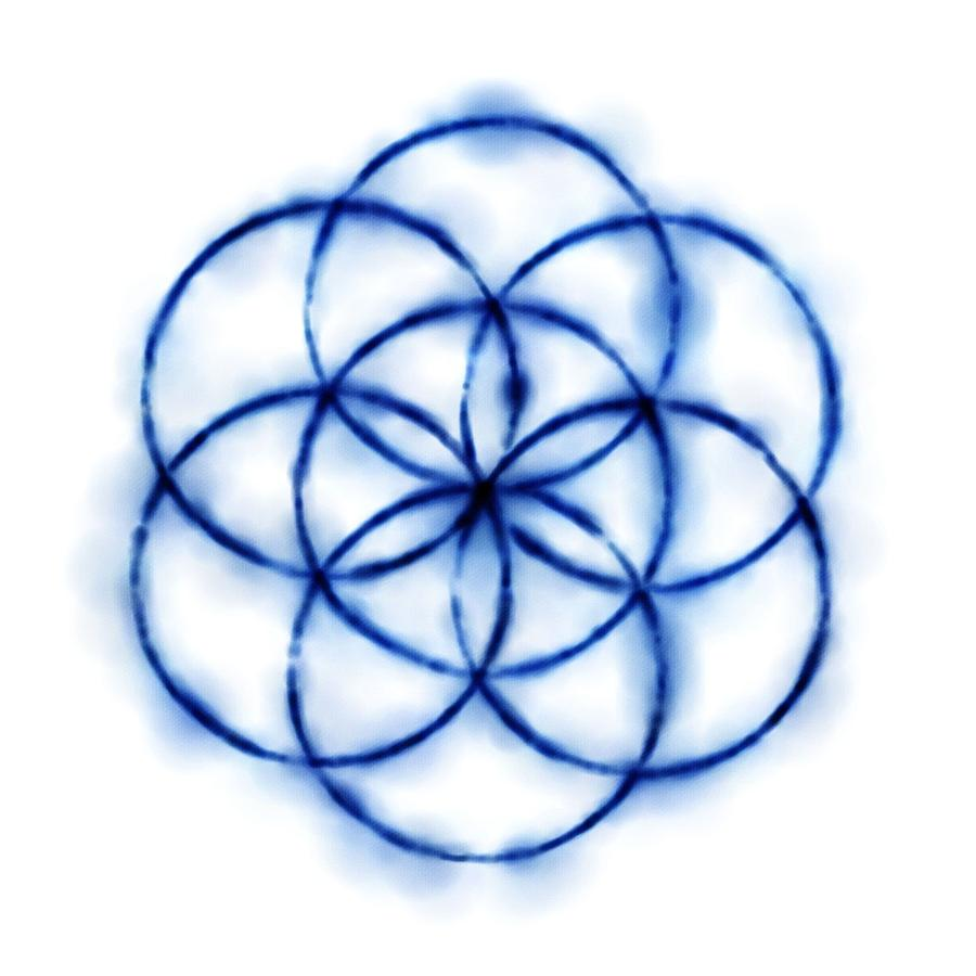 Blue Circle Abstract  Drawing - Blue Circle Abstract by Tom Druin