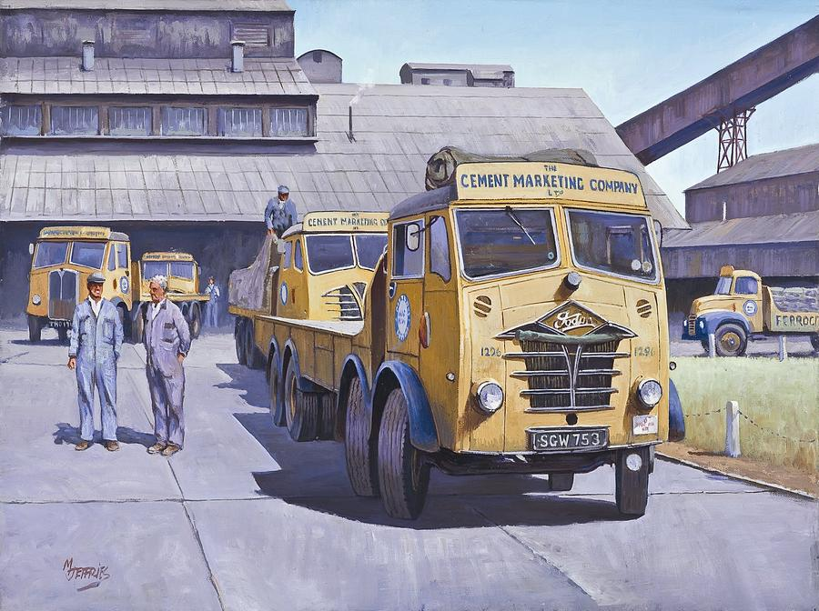 Foden Painting - Blue Circle Fodens by Mike  Jeffries