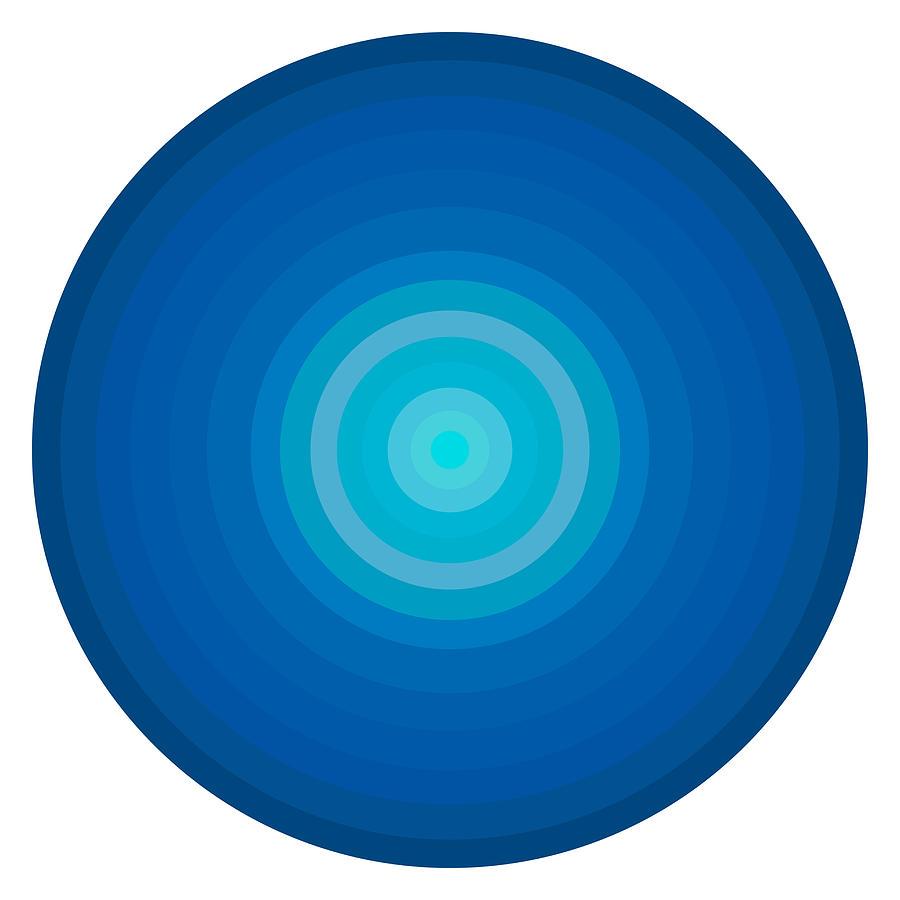 Blue Circles Painting - Blue Circles by Frank Tschakert