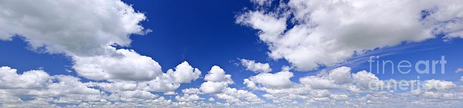 Blue Cloudy Sky Panorama Photograph by Elena Elisseeva