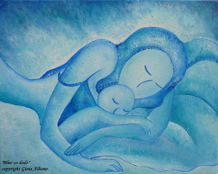 Oil Painting - Blue Co Sleeping by Gioia Albano