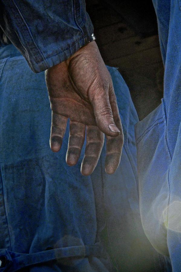 Blue Collar Photograph - Blue Collar by Odd Jeppesen