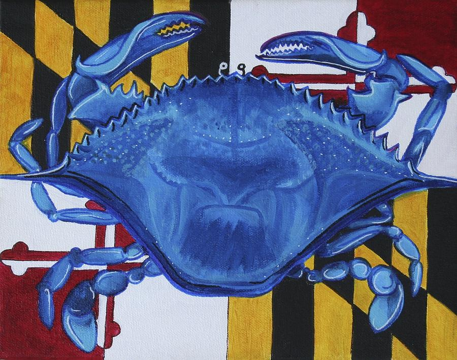 Maryland Painting - Blue Crab by Kate Fortin