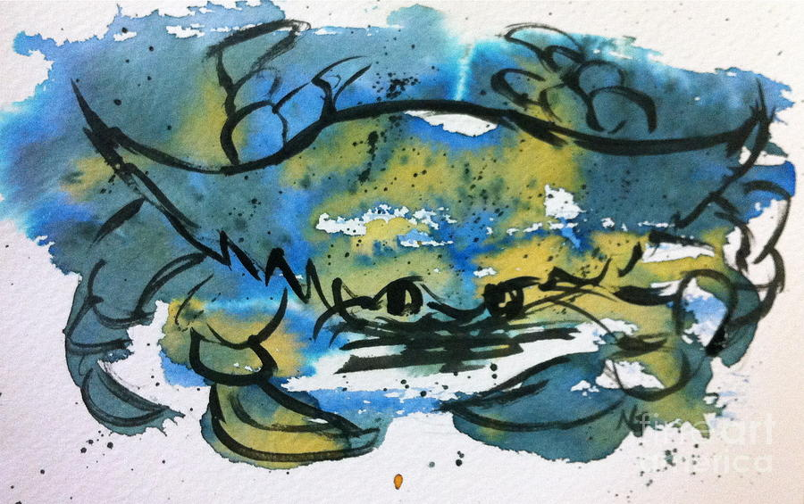 Sea Life Painting - Blue Crab by Norma Gafford